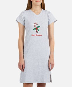 Candy Cane Personalized Women's Nightshirt