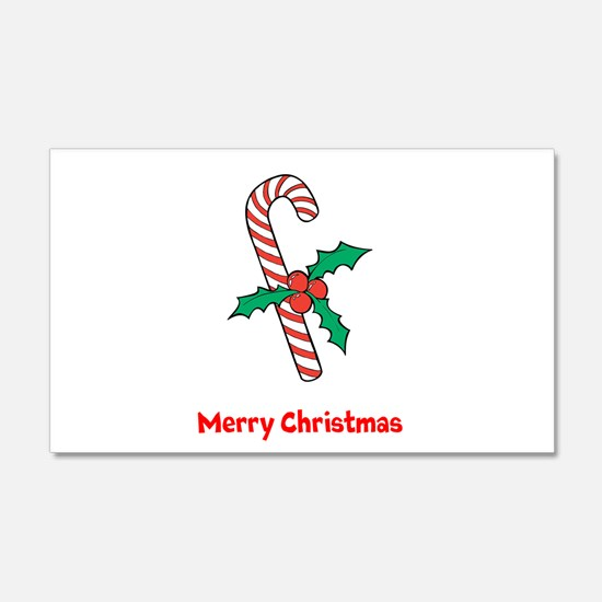 Candy Cane Personalized Decal Wall Sticker