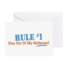 Rule #1 Bathroom Greeting Card