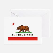 California State Bear Flag Greeting Cards (6) Gree