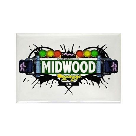Midwood (White) Rectangle Magnet (10 pack)