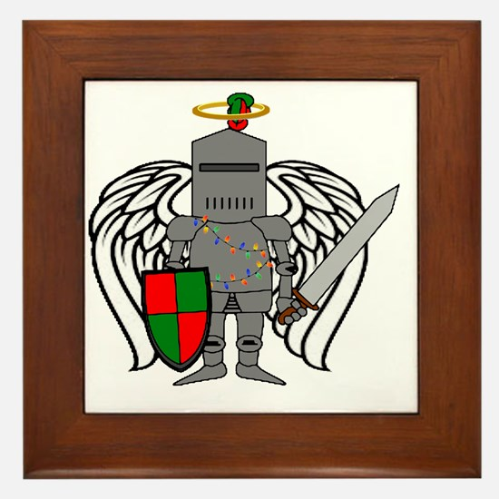 Cute Sheild Framed Tile