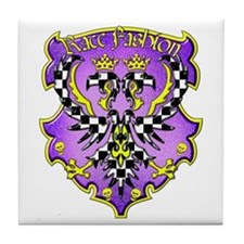 Eagle Purple Tile Coaster