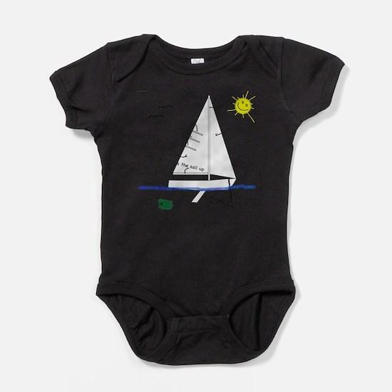 Cute Sailing Baby Bodysuit