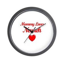 Mommy Loves Nevaeh Wall Clock