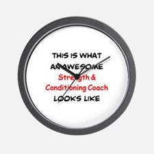 awesome strength & conditioning Wall Clock