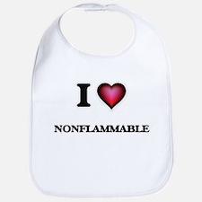 I Love Nonflammable Bib