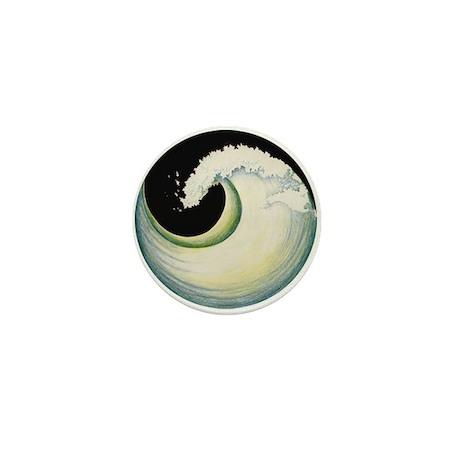 Earth Wave Mini Button