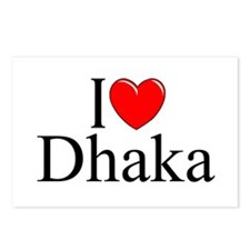 """I Love Dhaka"" Postcards (Package of 8)"
