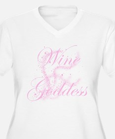 Glittery Wine Goddess T-Shirt