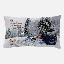 Christmas kitty Pillow Case