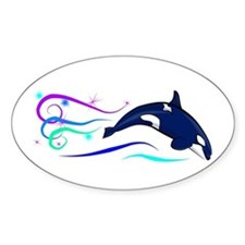 Orca Sparkle Oval Decal