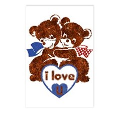I Love U * Blue * - Postcards (Package of 8)