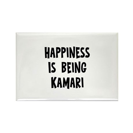 Happiness is being Kamari Rectangle Magnet (10 pac