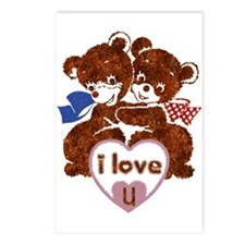 I Love U * Pink * - Postcards (Package of 8)