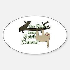 Cute Animal spirit Sticker (Oval)
