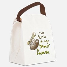 The sloth is my Spirit animal Canvas Lunch Bag
