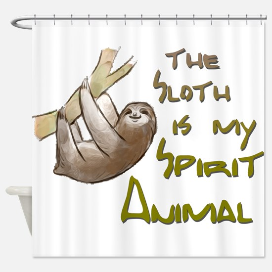 The sloth is my Spirit animal Shower Curtain