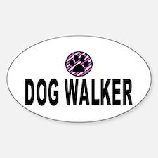 Dog Walker Purple Stripes Decal