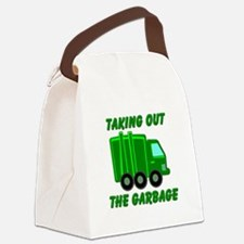 Taking out the Garbage Canvas Lunch Bag