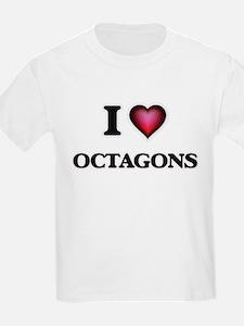 I Love Octagons T-Shirt