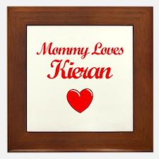 Mommy Loves Kieran Framed Tile
