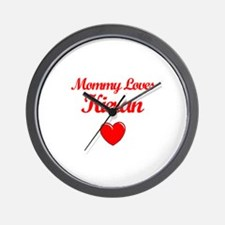 Mommy Loves Kieran Wall Clock