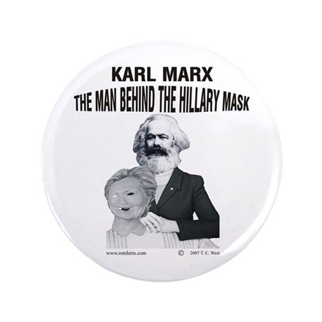 "Hillary Marx 3.5"" Button"