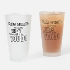 Hang Gliding Design Drinking Glass