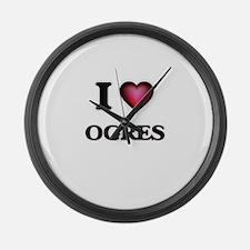 I Love Ogres Large Wall Clock