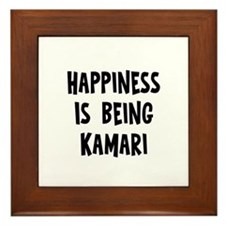 Happiness is being Kamari Framed Tile