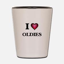 I Love Oldies Shot Glass