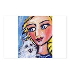 ESKIE w Blond Lady Postcards (Package of 8)