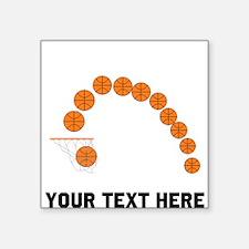 Basketball Balls And Net Sticker