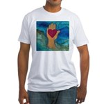 Heart in Hand Fitted T-Shirt