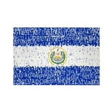 Textual El Salvador Rectangle Magnet