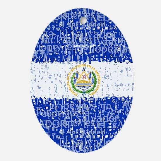 Textual El Salvador Oval Ornament
