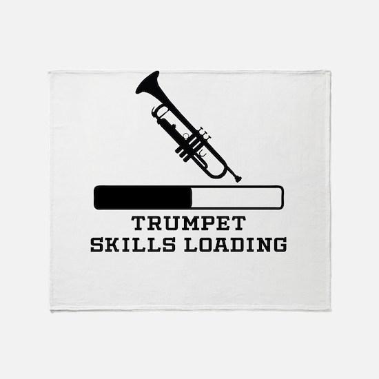 Trumpet Skills Loading Throw Blanket