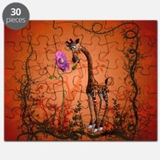 Funny giraffe with flower Puzzle