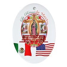 Reina de Mexico Oval Ornament
