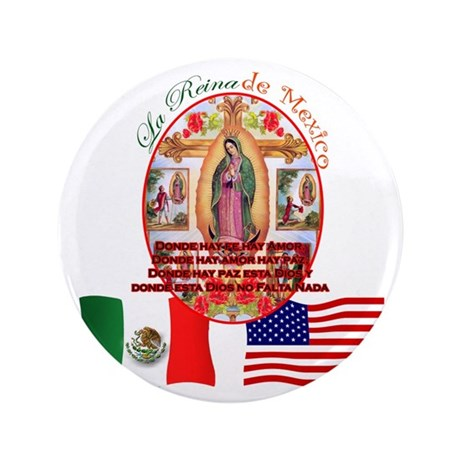 "Reina de Mexico 3.5"" Button (100 pack)"