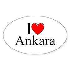 """I Love Ankara"" Oval Decal"