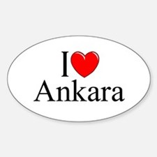 """I Love Ankara"" Oval Decal"