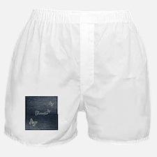 Cute Blue Denim Butterfly Boxer Shorts