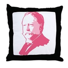 Pink President Taft Throw Pillow