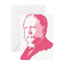 Pink President Taft Greeting Card
