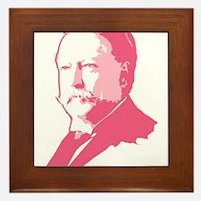 Pink President Taft Framed Tile