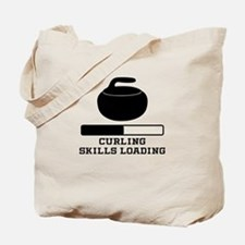 Curling Skills Loading Tote Bag