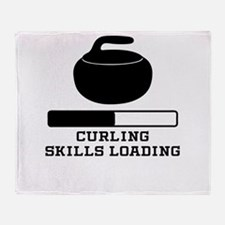 Curling Skills Loading Throw Blanket