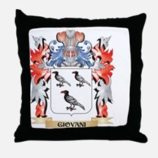 Giovani Coat of Arms - Family Crest Throw Pillow